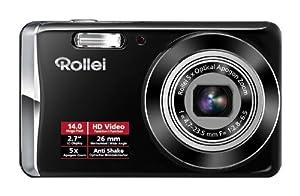 Rollei Compactline 390 Kompaktkamera (14 Megapixel, 5-fach optischer Zoom, 26 mm Weitwinkelobjektiv, 6,85 cm ( 2,7 Zoll ) Display) schwarz