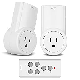 Etekcity Wireless Remote Control Electrical Outlet Switch for Household Appliances, White (Learning Code, 2Rx-1Tx)
