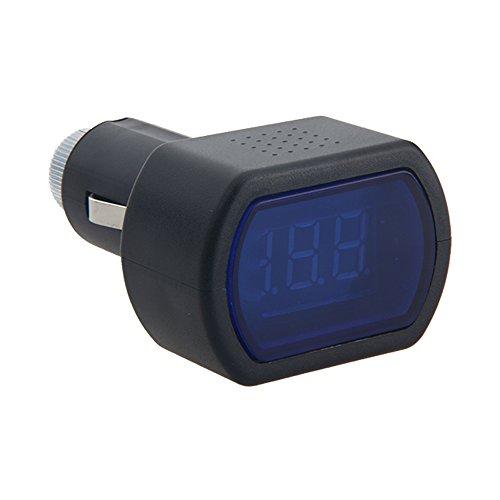 12V-24V Red LED Cigarette Lighter Plug Digital Voltmeter Gauge Car Voltage Meter (High Powered Car Alternator compare prices)