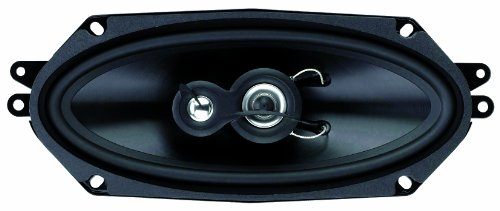 Planet Audio Tq413 4-Inch X 10-Inch 3-Way Speaker System Poly Injection Cone (Black) Sold As Pair