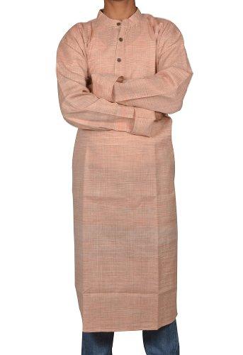 Mens Casual Cotton Khadi Long Kurta Fabric For Winter & Summers Size-4XL