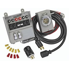 Reliance Controls Power Transfer Kit for Portable Generators (6 Circuit) - 31406CRK