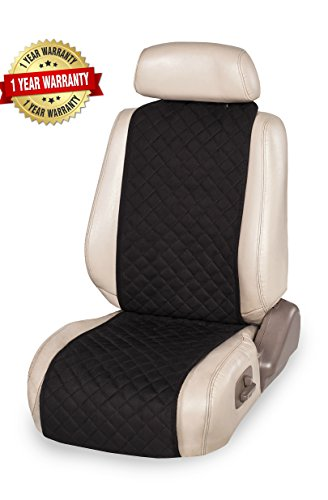IVICY Car Seat Cover Made Of New Technological Suede Great Durability Universal Seat Cushions Velvety Touch - Wear Resistant (Black) (Red Flame Seat Covers compare prices)