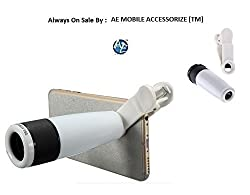 AEMA(TM) Universal 12x Zoom Mobile Phone Monocular Telescope Clip Lens for Cell Phone Optical Lens Magnifier