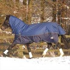 Masta Turnoutmasta 350 Fixed Neck Turnout Rug NEW + OFFER!-Navy/ Twilight 7'3''