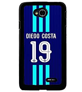 PRINTVISA Football Diego Costa Case Cover for LG L70
