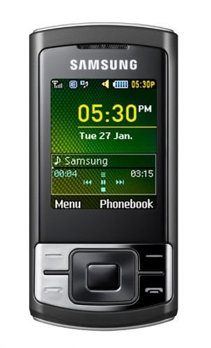 Samsung SA-C3050 Unlocked Phone with 15MB built-in memory, MP3 player, Bluetooth, FM radio – International Version (Black)