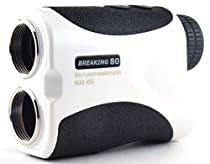 Breaking 80 Golf Laser Rangefinder Range Finder with Advanced Pin Sensor Technology (White)