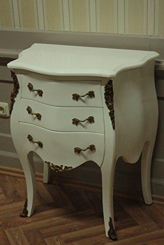 Aparador de estilo barroco, pintado de blanco