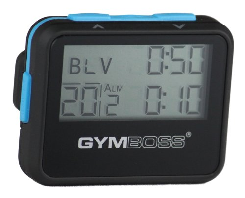 Gymboss Interval Timer and Stopwatch - BLACK / BLUE SOFTCOAT (Jeff Galloway Interval Timer compare prices)