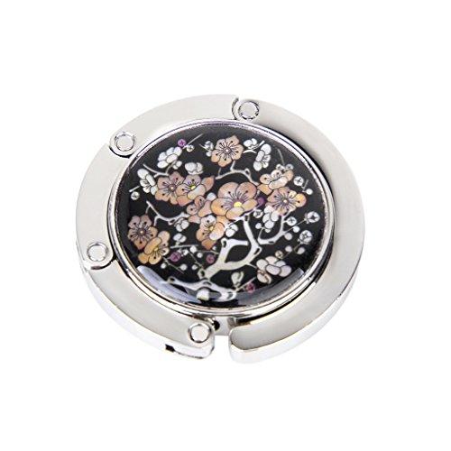 1-x-round-folding-bag-handbag-purse-hook-hanger-holder-plum-blossom-pattern