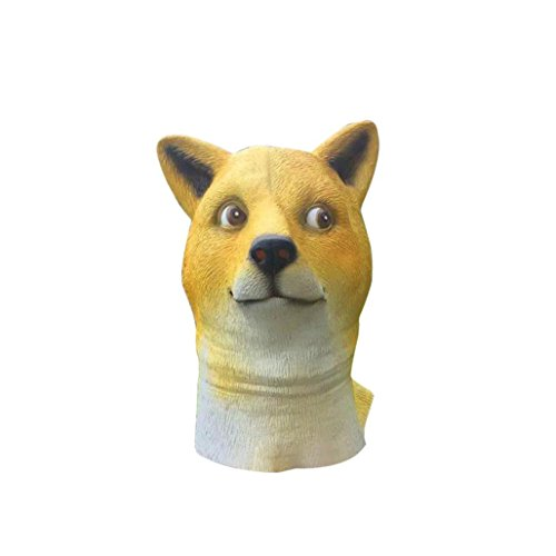 Dog Mask, Keepfit Latex Animal Doge Dog Head Mask Halloween Costume (Deluxe Frankenstein Mask)