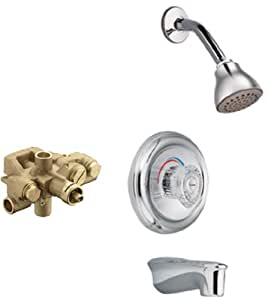 Moen 3285-3520 Legend Moentrol Tub/Shower Valve Trim Kit with Valve, Chrome