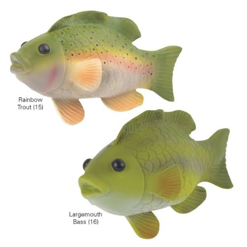 grriggles freshwater fish latex dog toy rainbow trout 6