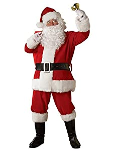 Rubie's Costume Regal Plush Santa Suit, Red/White, XX-Large Costume