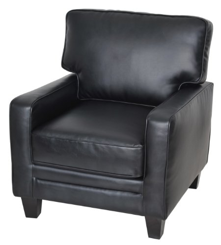 Serta Cr-44106 Santa Rosa Collection Track Arm Accent Chair, Black front-153248