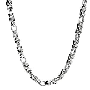 14K White Gold Men's Necklace. Length 22 in. Total Item weight 99.9 g.