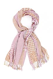 Contrast Print Scarf with Wool [T01-7378-S]