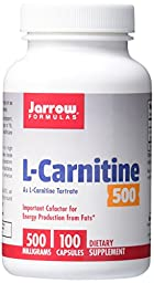 Jarrow Formulas L-Carnitine Tartrate, For Brain Energy and Heart Support, 500mg, 100 Capsules