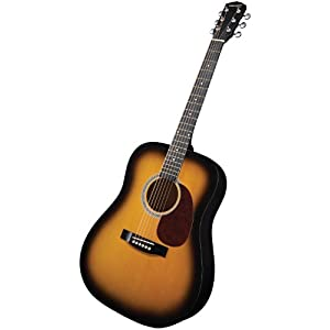 Fender Starcaster Acoustic Guitar Pack, 2-Tone Sunburst Finish, with Fishman Preamp and Built-in Tuner $84
