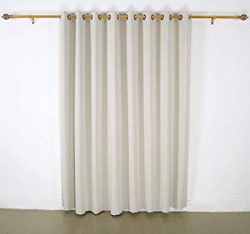 deconovo wide width grommet top thermal blackout curtain for living room 100 w x 84 l 1 panel. Black Bedroom Furniture Sets. Home Design Ideas