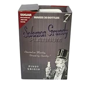 Solomon Grundy PLATINUM 7 Day Wine Kit 30 Bottle - Pinot Grigio