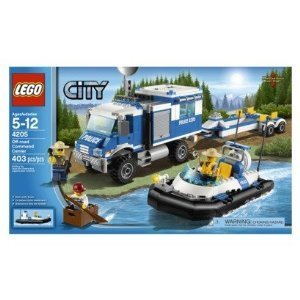LEGO Police Boat 4205 Off Road Command Center and (Lego) City Police Command track [parallel import goods] (japan import)