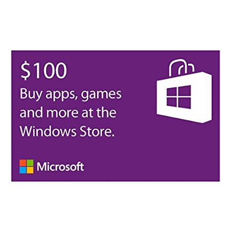 Microsoft Windows Store Gift Card - $100 Value [Online Code]
