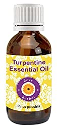 Pure Turpentine Essential Oil 100ml (Pinus palustris) by Deve Herbes