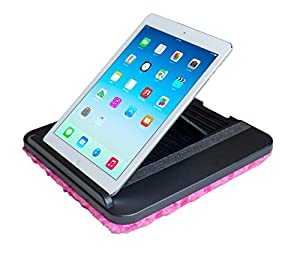 Prop 'n Go Slim - Adjustable Bed Holder & Lap Stand for iPad, iPair Air, iPad mini, Tablets and eReaders with Multi Angle Control (Pink)