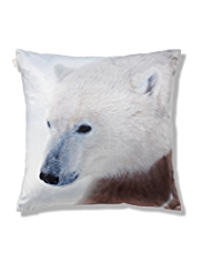 Velvet Polar Bear Cushion
