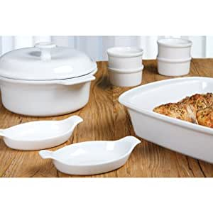 Anchor Hocking 9pc White Ceramic Baking Set