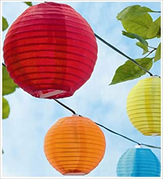 Set of 10 Solar String Coloured Garden Outdoor Lantern Lights presented by Ornamental Weather.