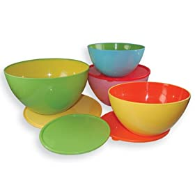 Two Toned Mixing Bowls with Lids (set of 4)