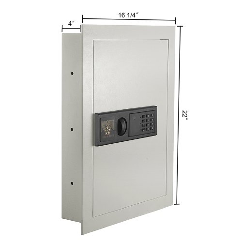 Electric In Wall Safe Hidden Home Security Vault Pistol