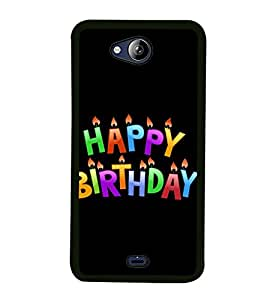 Happy Birthday 2D Hard Polycarbonate Designer Back Case Cover for Micromax Canvas Play Q355
