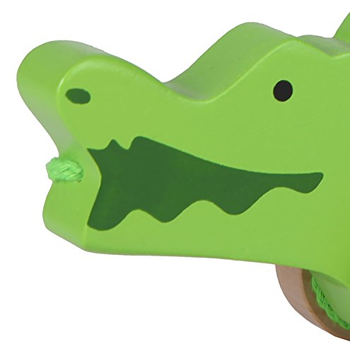 Hape E0907 Push & Pull – Crocodile Toy
