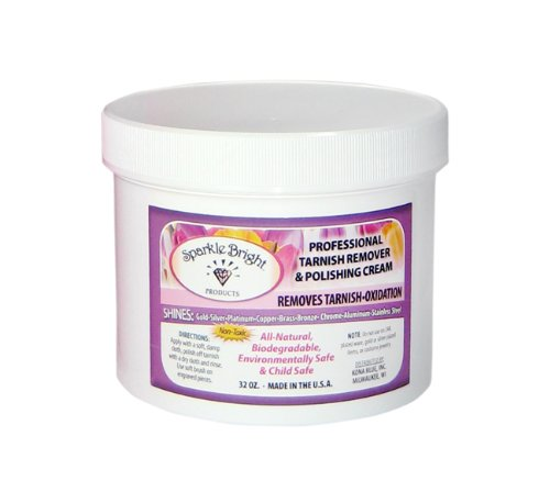 Sparkle Bright Products All-Natural Jewellery Cleaner | Tarnish Remover & Polishing Cream - 32 oz.