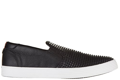 Emporio Armani EA7 slip on uomo in pelle sneakers nuove originali nero EU 42 278073 6A299 00020