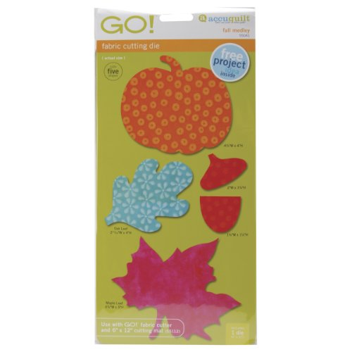 Accuquilt Go! Fabric Cutting Dies; Fall Medley front-224682