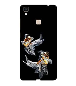 ifasho Fish in Blue See Back Case Cover for Vivo V3