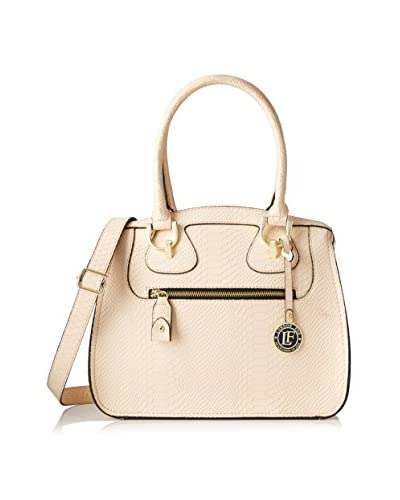 London Fog Women's Knightsbridge Satchel, Gold Snake