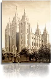 LDS Salt Lake City Utah Temple Drawing 16x20\