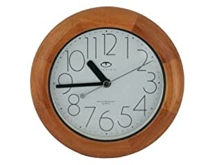 Water Resistant Wall Clock With Quiet Sweep Movement And