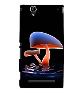 printtech Water Mushroom Back Case Cover for Sony Xperia T2 Ultra::Sony Xperia T2 Ultra Dual