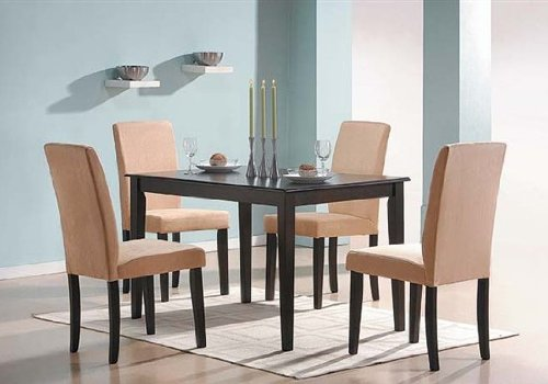Cross Dining Room Table and Parson Chair Set