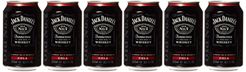 Jack Daniel discount duty free Jack Daniels and Cola, 330ml (Case of 6)