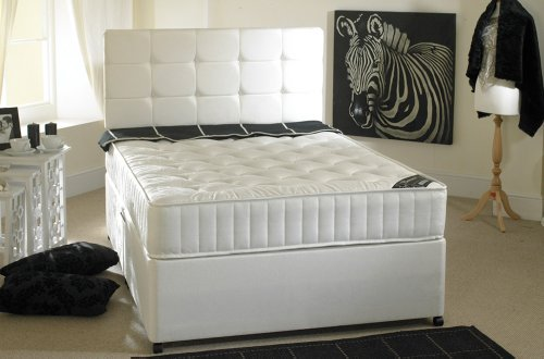 Beautiful Happy Beds Neptune Divan Bed Set Semi Orthopaedic Mattress Drawers One Per Side No Headboard