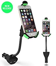 Car Mount, EnergyPal HC84K Car Smartphone Holder with Dual USB 2.1A Charger With Over Charge and…