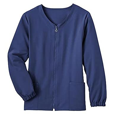 Jockey Scrubs Ladies Zipper Warm-Up Cardigan Style Scrub Jacket (Assorted Colors, XS-3X)